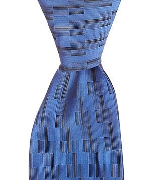 Murano Stack Diagonal-Printed Narrow Silk Tie
