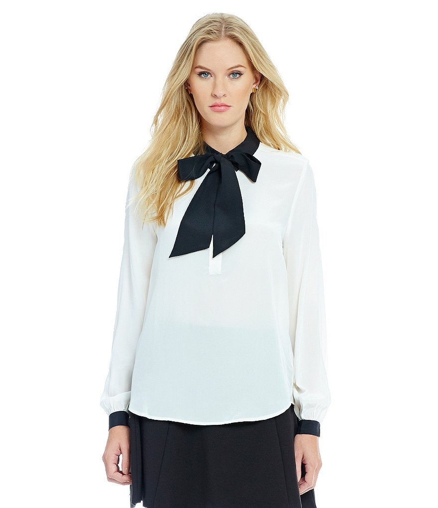 Juicy Couture Tie-Neck Silk Shirt