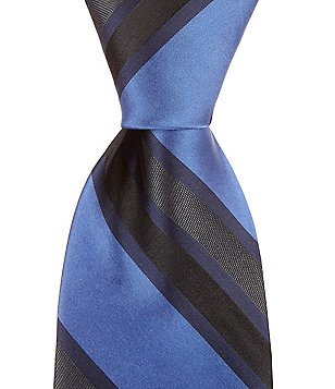 Murano Big & Tall Lotto Stripe Traditional Silk Tie