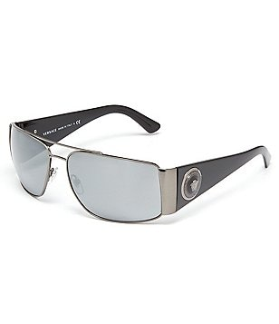 Versace Rock Icons Vanitas Mirrored Navigator Sunglasses