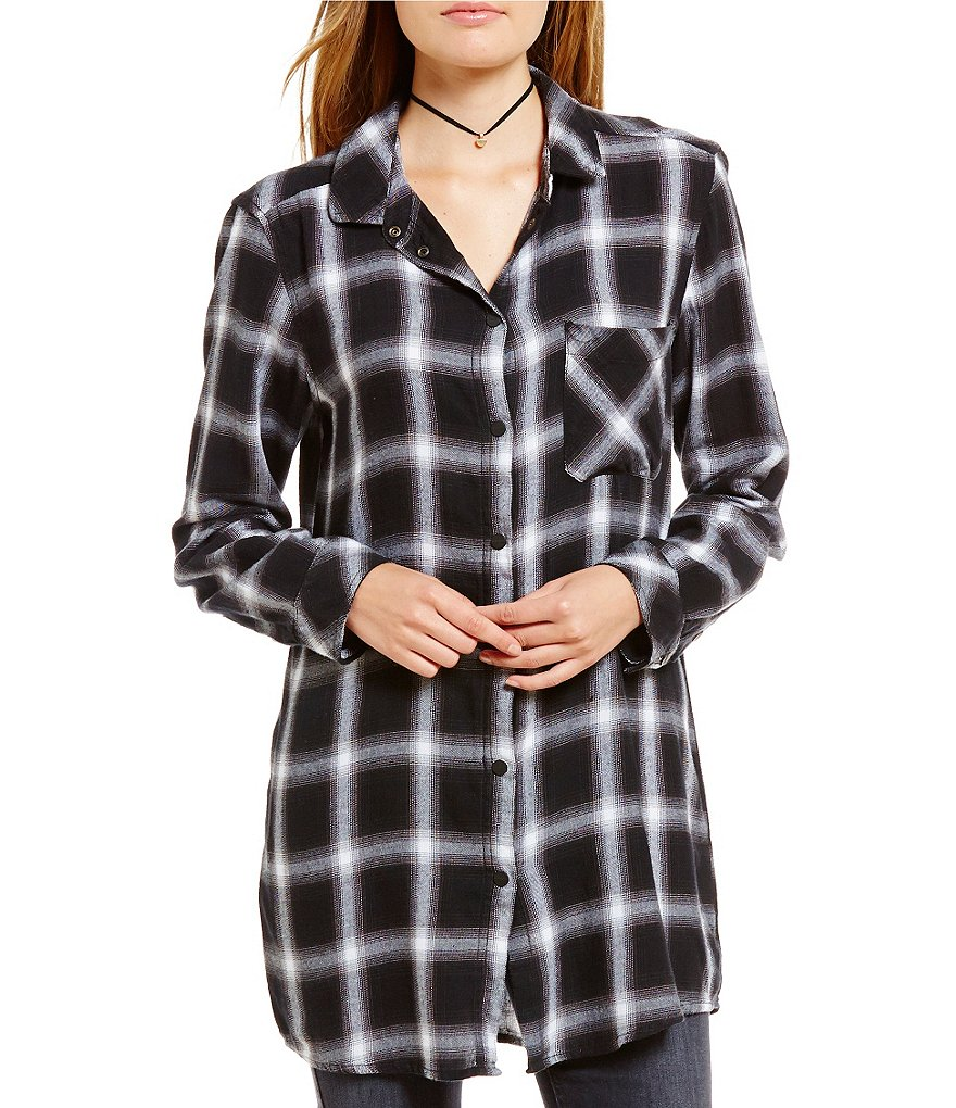 Sanctuary Never Mind Point Collar Long Sleeve Tunic
