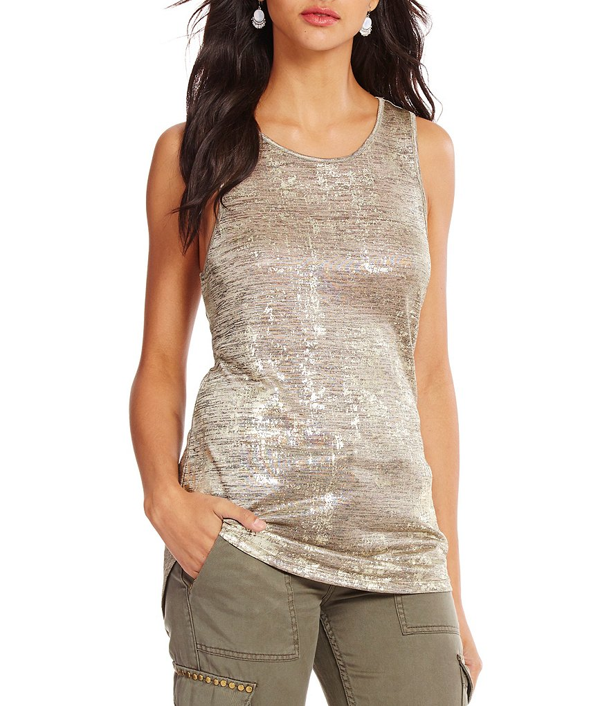 Sanctuary Fitted Scoop Neck Knit Artist Tank