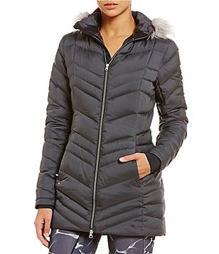 Spyder Actyve Timeless Long Quilted Down Jacket With Faux-Fur Hood