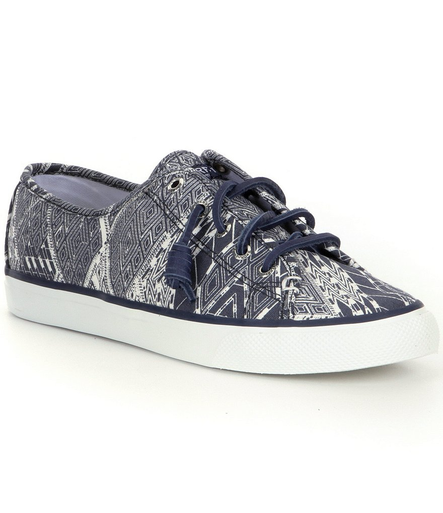 Sperry Seacoast Native Washed Canvas Lace-Up Sneakers