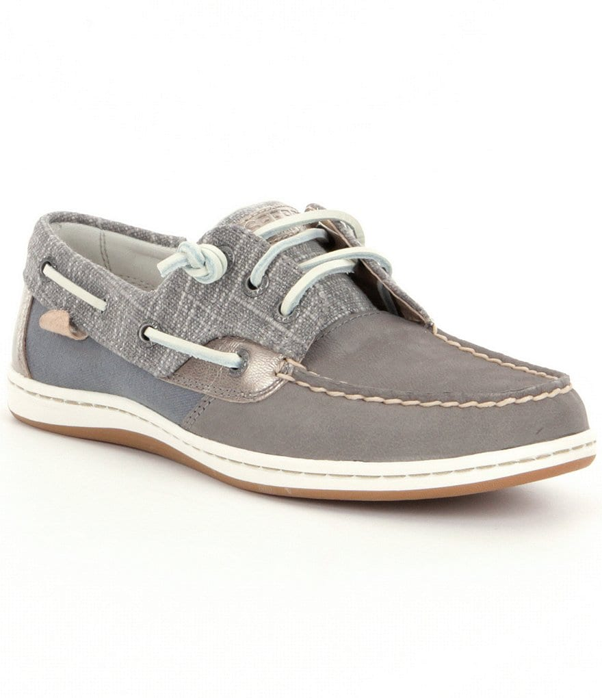 Sperry Songfish Metallic Sparkle Boat Shoes