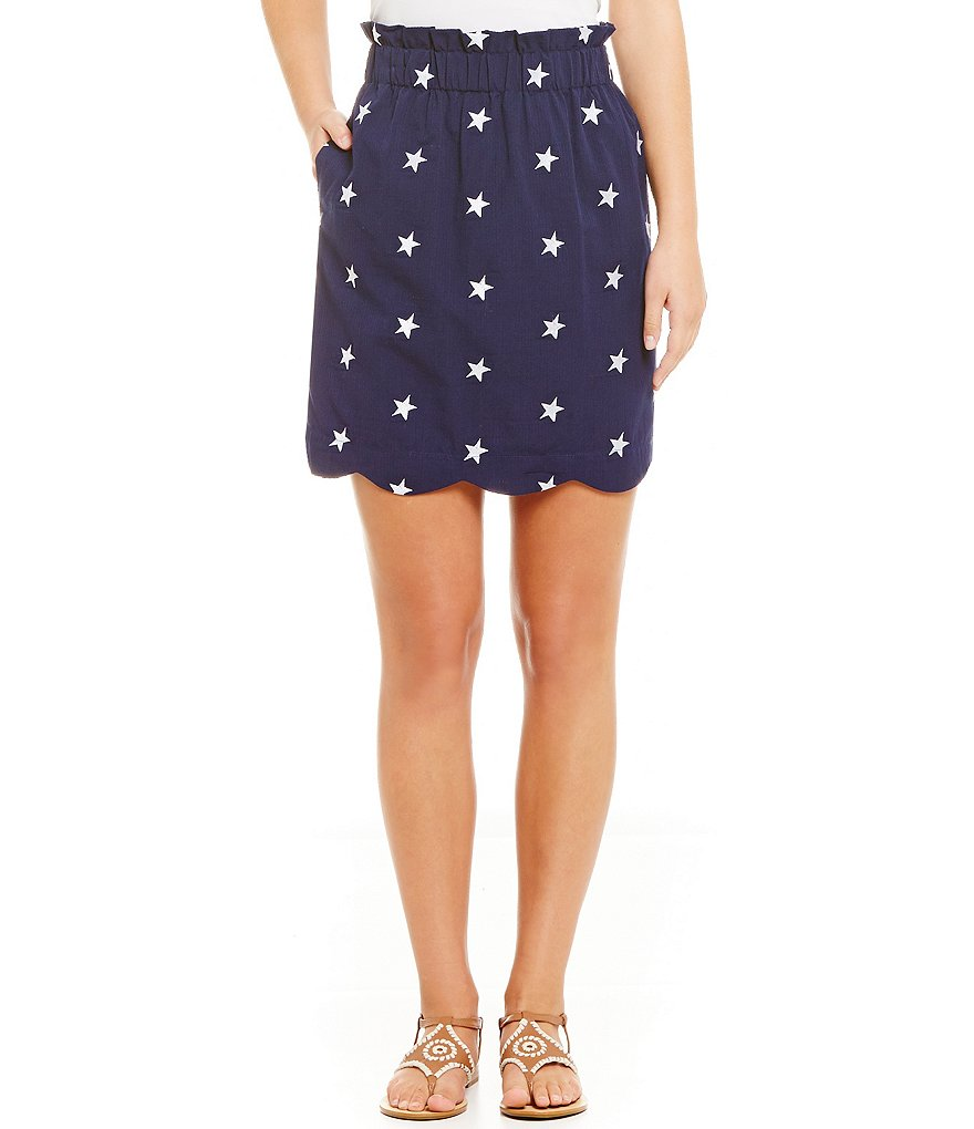 Lauren James Americana Star Seersucker Skirt