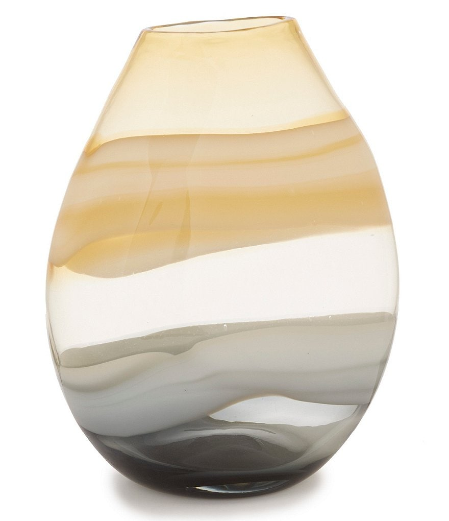 Noble Excellence Nature's Neutrals Agate Soda Lime Vase