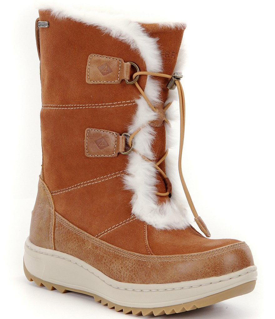 Sperry Powder Valley Faux Fur Waterproof Cold Weather Booties