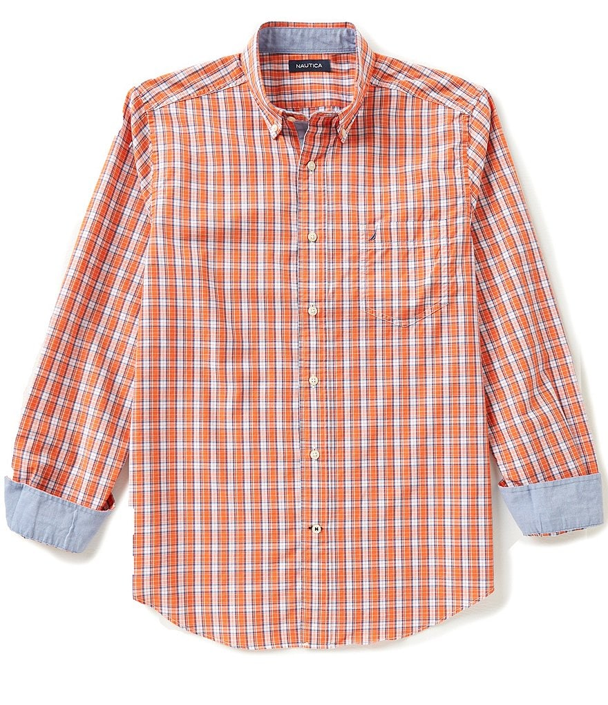 Nautica Plaid Classic-Fit Poplin Shirt