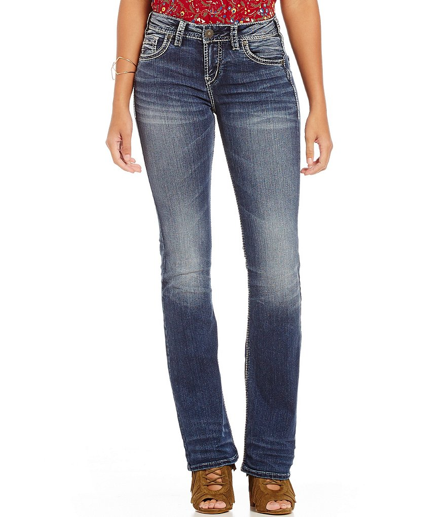 Silver Jeans Co. Suki Slightly Distressed High Bootcut Jeans