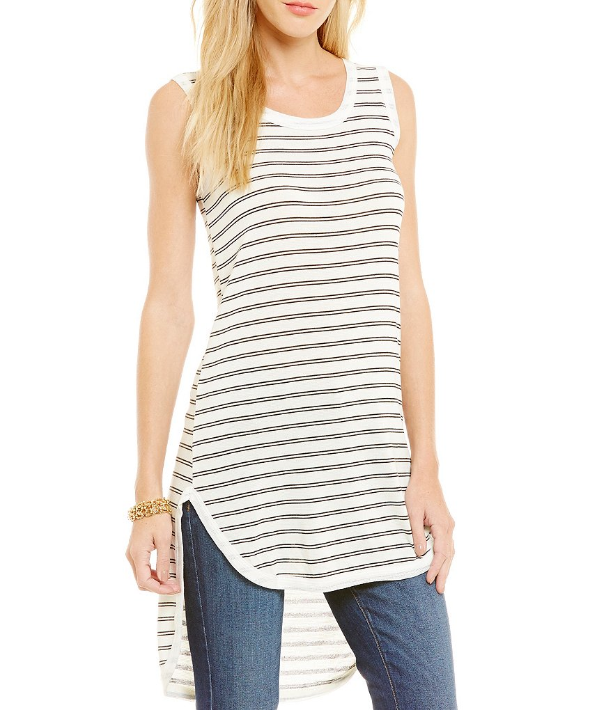 Blu Pepper Kendall Striped Hi-Low Tunic