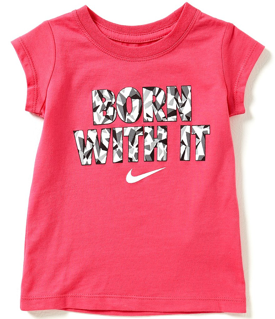 Nike Little Girls 2T-6X Born With It Short-Sleeve Tee