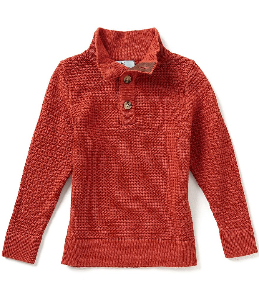 Class Club Little Boys 2T-7 Mock Neck Textured Sweater