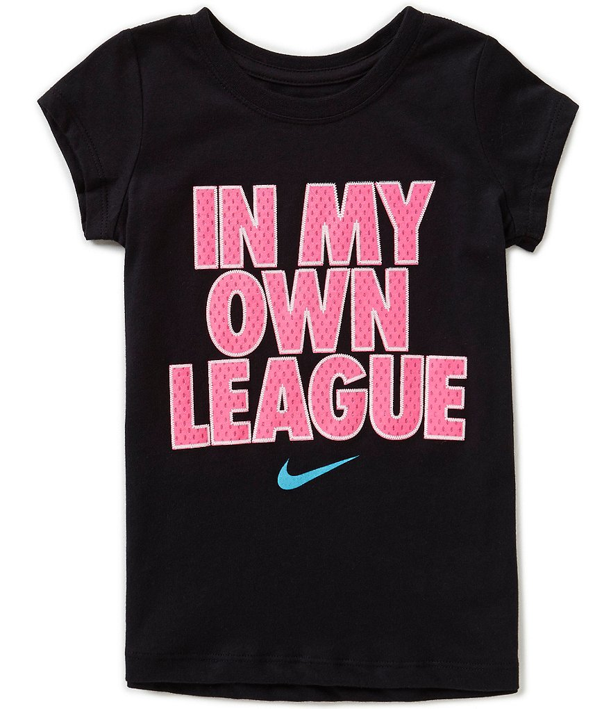 Nike Little Girls 2T-6X In My Own League Short Sleeve Tee