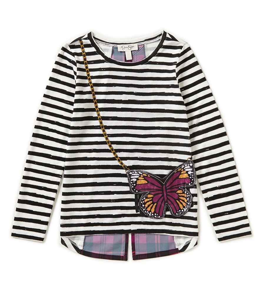 Jessica Simpson Little Girls 2T-6X Butterfly-Purse Top