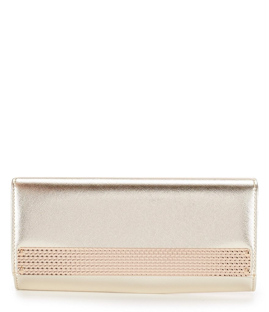 Kate Landry Metal Flap Clutch