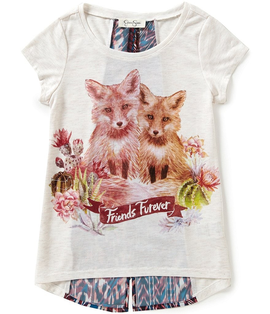 Jessica Simpson Big Girls 7-16 Nora Desert Fox Tee