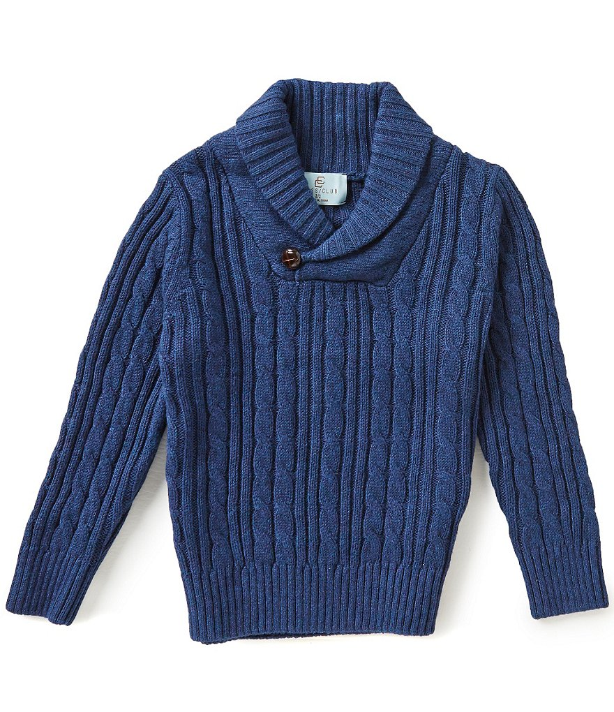Class Club Little Boys 2T-7 Shawl-Collar Sweater