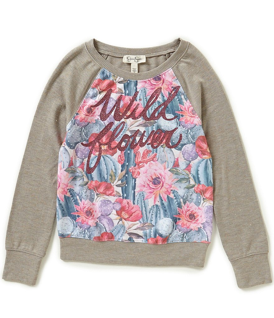 Jessica Simpson Big Girls 7-16 Ariel Wildflower Top