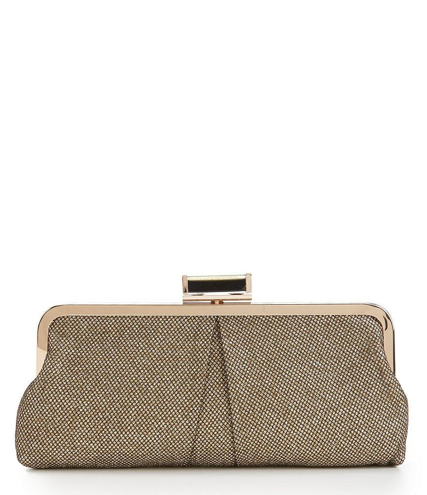 Kate Landry Metallic Frame Clutch