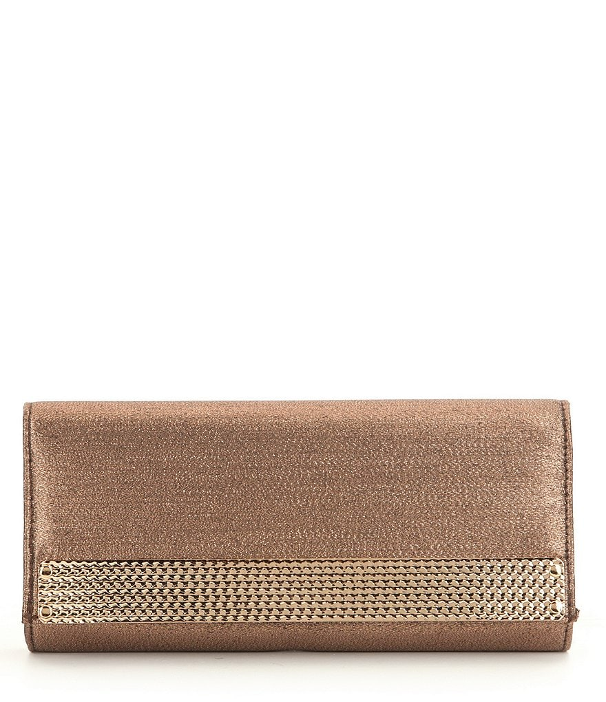 Kate Landry Hammered Flap Clutch