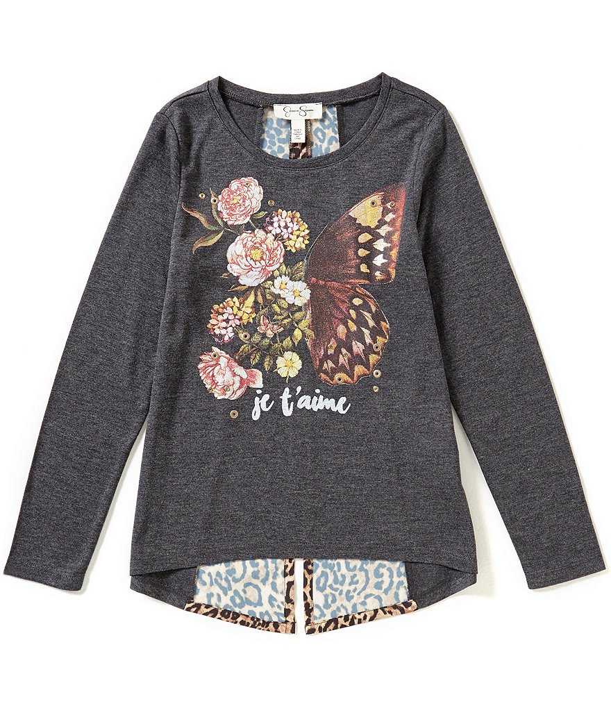 Jessica Simpson Big Girls 7-16 Renesmee Butterfly Top