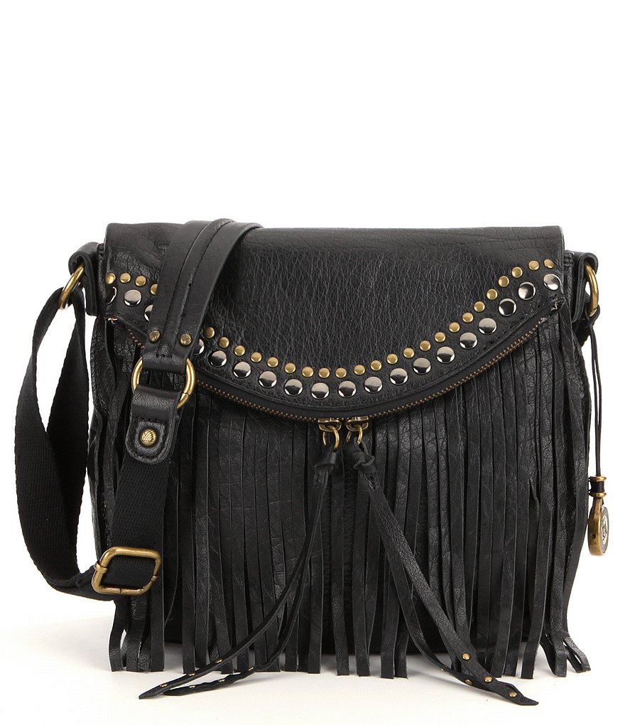 The Sak Silverlake Fringe Leather Saddle Bag
