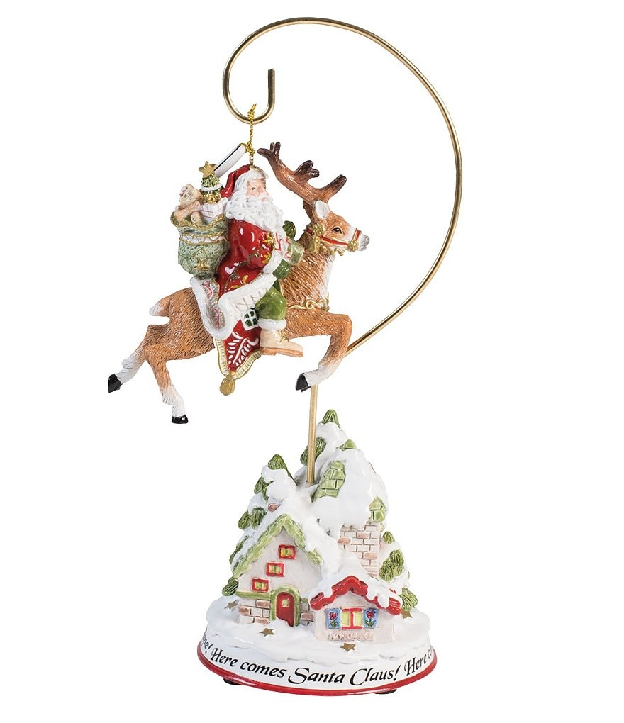 Fitz and Floyd Damask Holiday 2016 Ornament with Stand