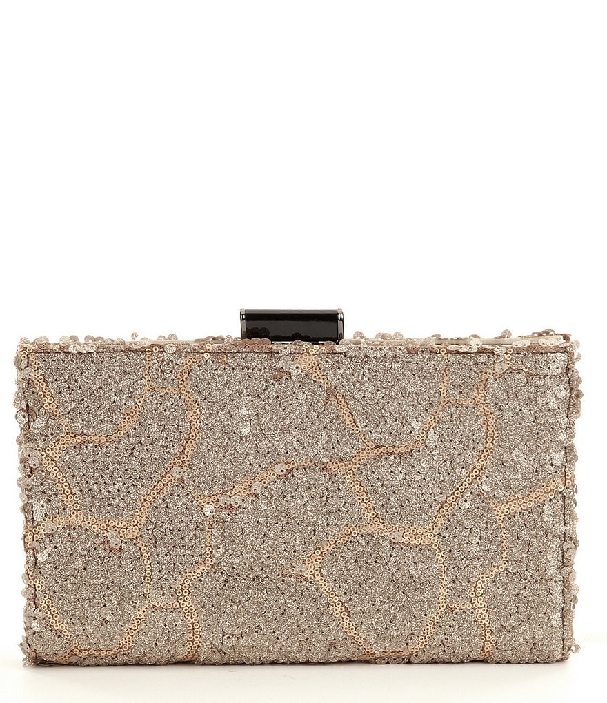Kate Landry Sequin Frame Clutch