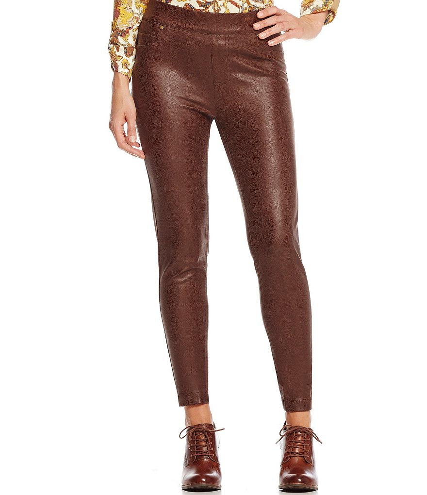 John Mark Pull On Novelty Faux-Leather Leggings