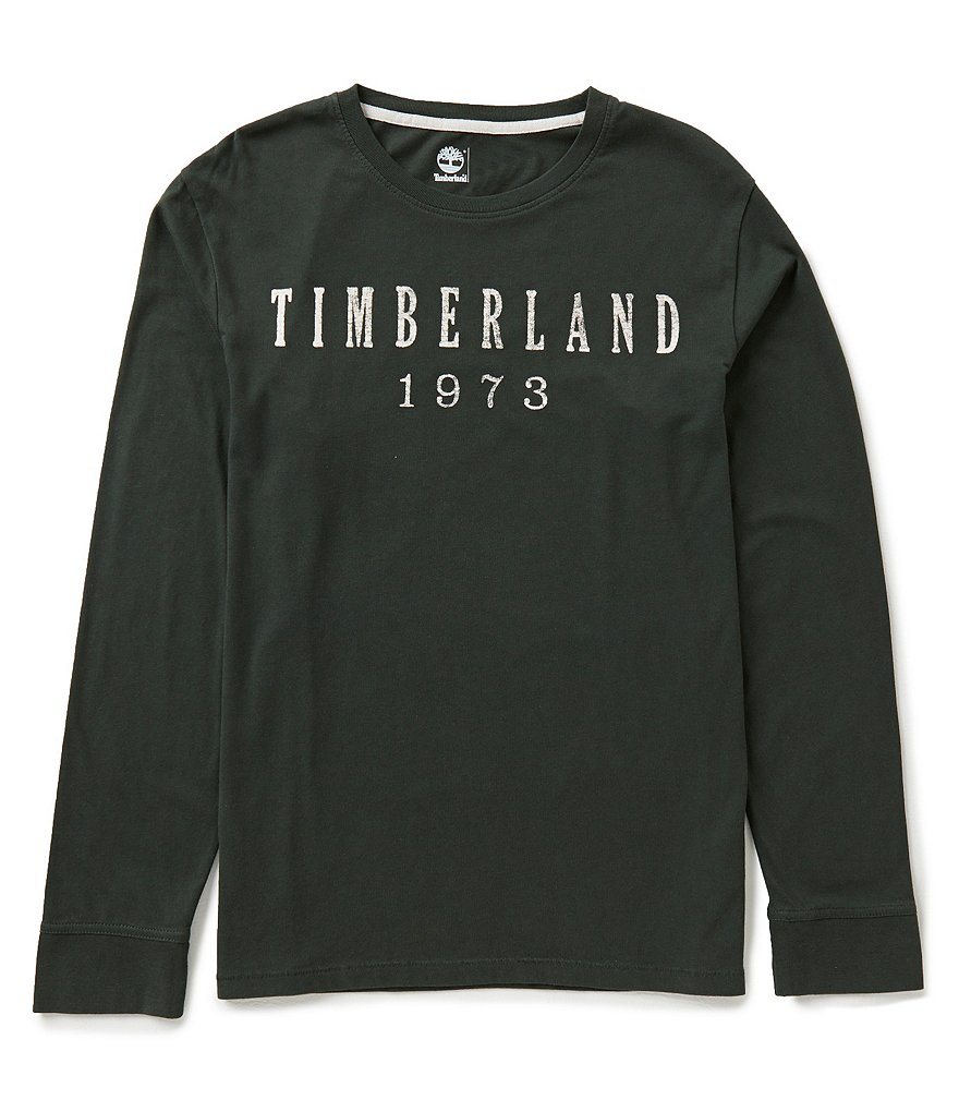 Timberland Long-Sleeve Kennebec Linear Logo Tee