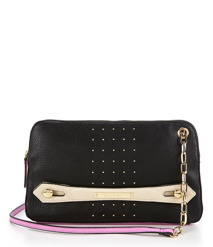 Gianni Bini Color Block Studded Cross-Body Bag