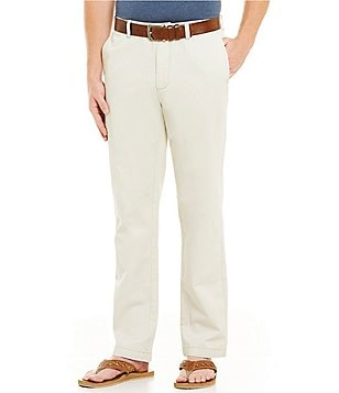 Roundtree & Yorke Casuals Big & Tall Straight-Fit Flat-Front Chino Pants
