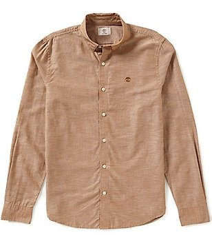 Timberland Long-Sleeve Slim-Fit Rattle River Chambray Woven Shirt
