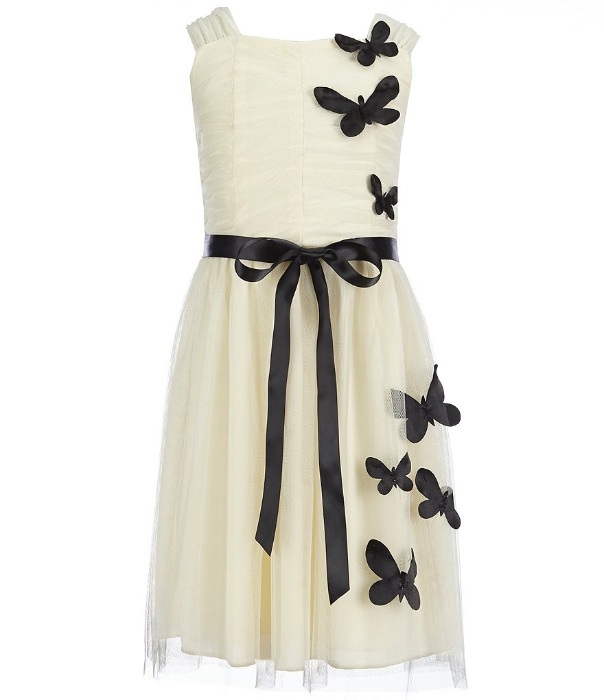 Honey and Rosie Big Girls 7-16 Lasercut-Butterfly-Appliquéd Dress