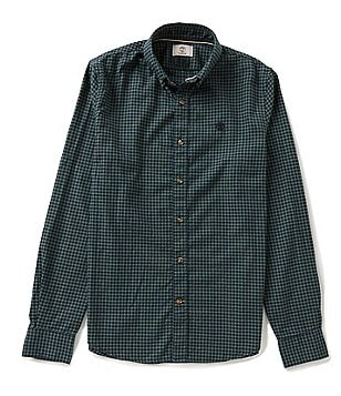 Timberland Long-Sleeve Slim-Fit Brushed Twill Gingham Woven Shirt