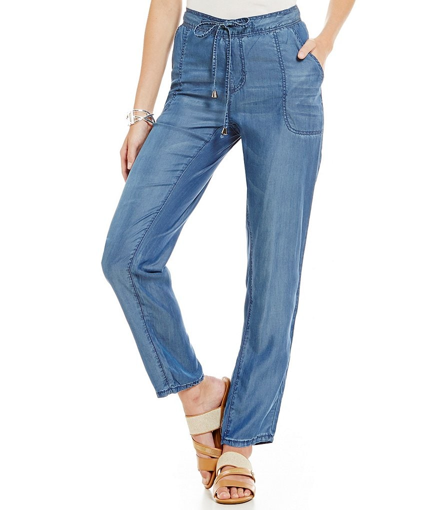 Nurture Chambray Wide Leg Pant