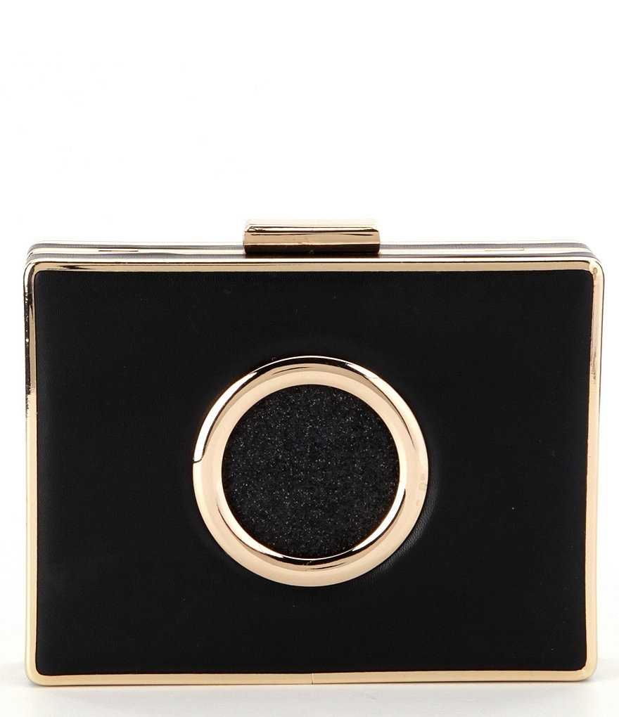 Kate Landry Glitter Circle Frame Clutch