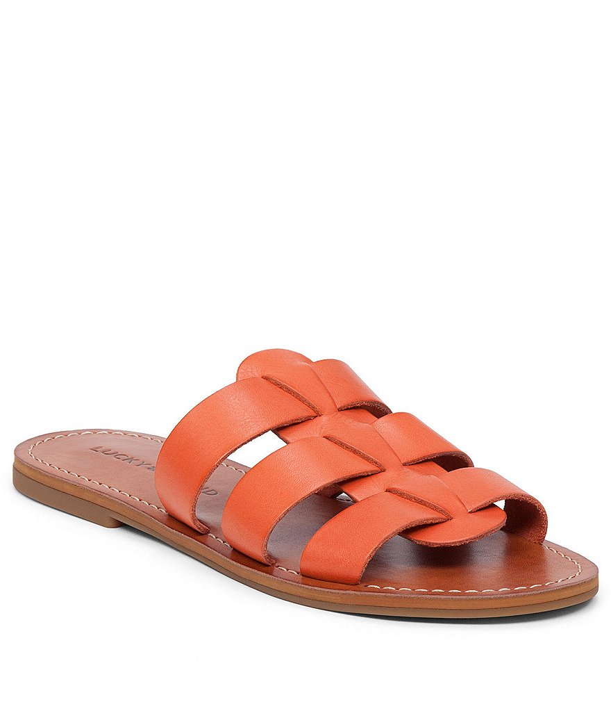 Lucky Brand Aisha Leather Banded Flat Sandals
