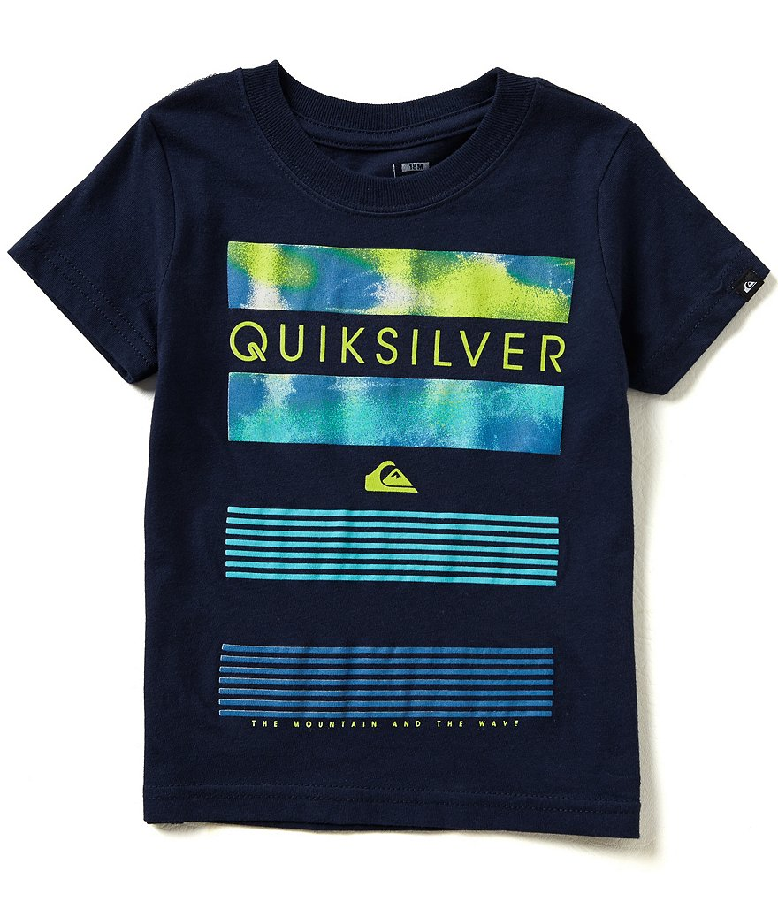 Quiksilver Baby Boys 12-24 Months Line Up Short-Sleeve Tee