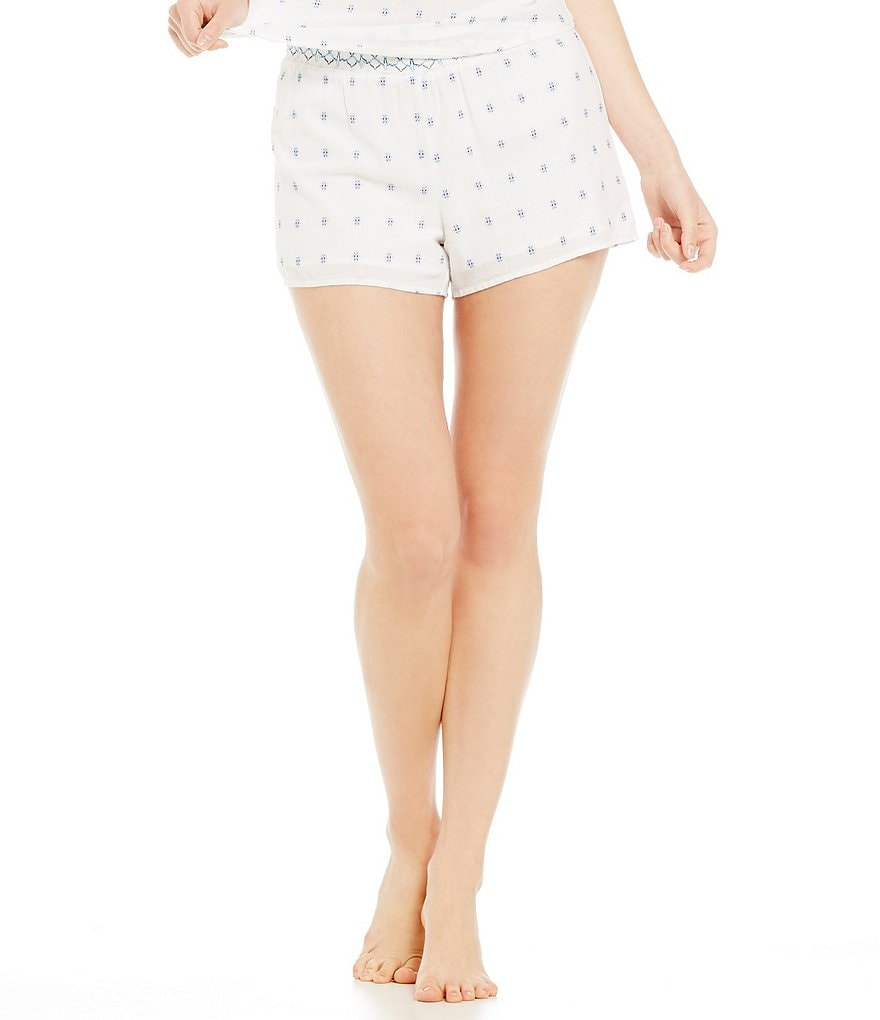 Jasmine & Ginger Smocked Waist Sleep Shorts