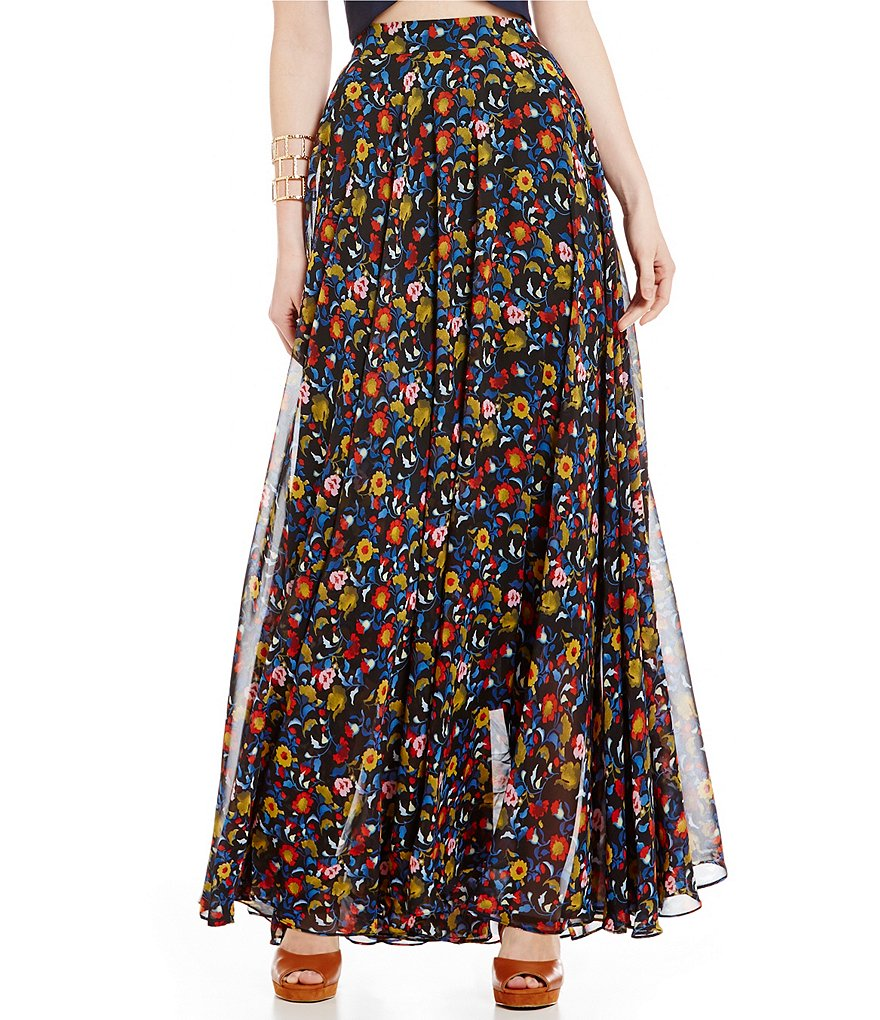 Lucy Paris Helen Multi Floral Maxi Skirt