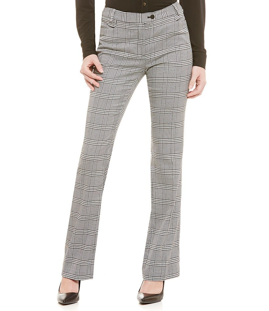 Calvin Klein Houndstooth Check Modern-Fit Straight-Leg Pants