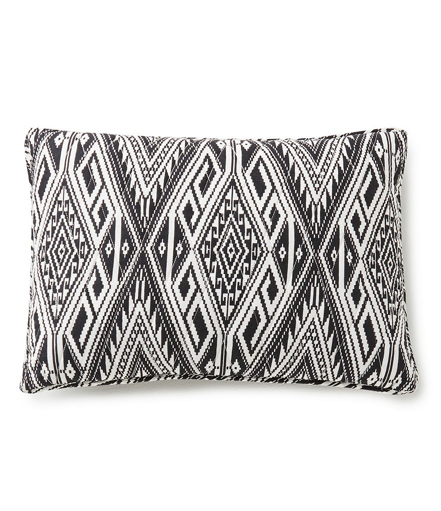 Cremieux Dalton Diamond-Quilted Tribal Breakfast Pillow