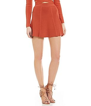 Lucy Paris Michelle Knit Skater Skirt