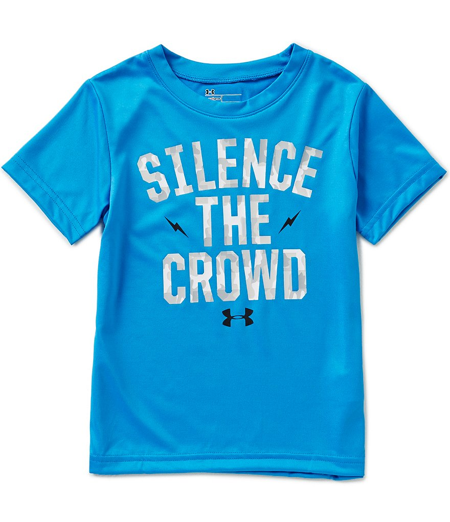 Under Armour Little Boys 2T-7 Silence The Crowd Short-Sleeve Graphic Tee