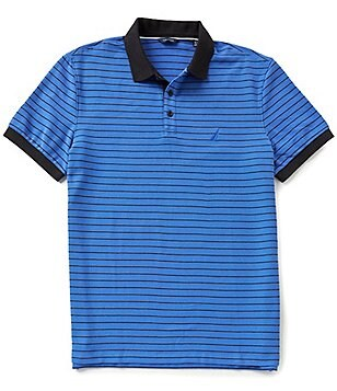 Nautica Striped Classic-Fit Short-Sleeve Stripe Polo Shirt