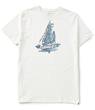 Nautica Abstract Sailboat Graphic Short-Sleeve Tee
