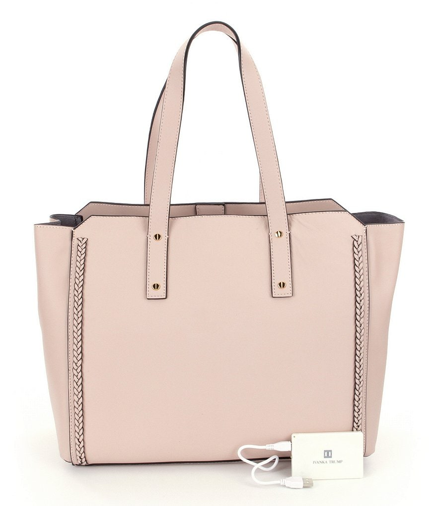 Ivanka Trump Soho Solutions Open Top Leather Tote