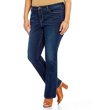Code Bleu Plus Kensington 5-Pocket Slim Straight Leg Jeans